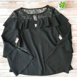 NWT NSR Lace Ruffle Top // final price!